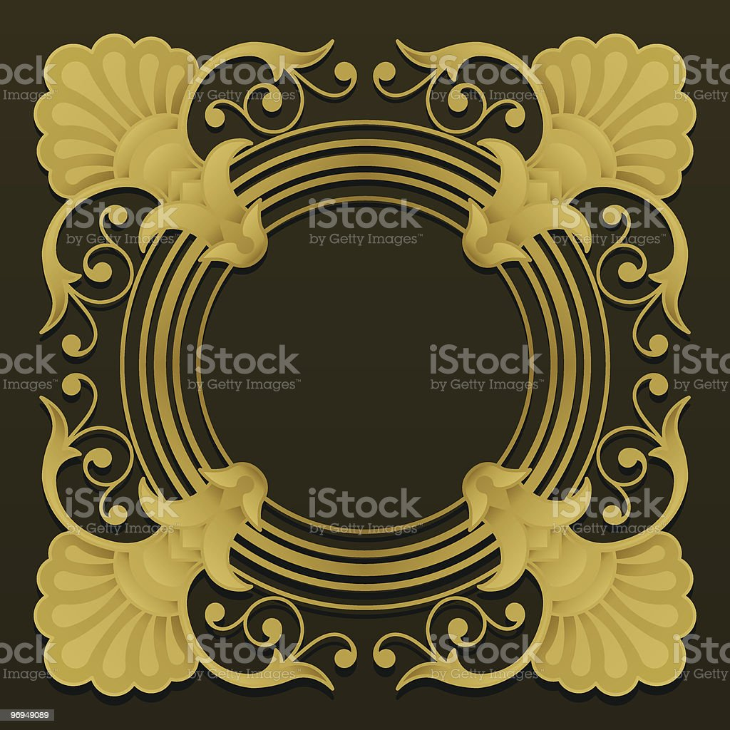 Golden ornamental border on dark background royalty-free golden ornamental border on dark background stock vector art & more images of abstract