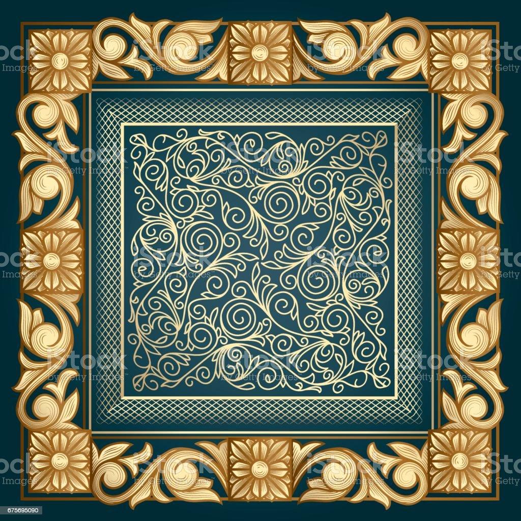 Golden ornate decorative design royalty-free golden ornate decorative design stock vector art & more images of antique