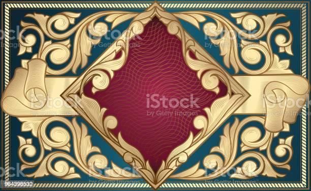 Vetores de Projeto Ornamentado Dourado Do Vintage Decorativo e mais imagens de Abstrato