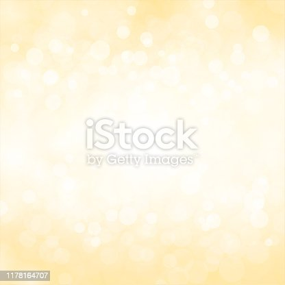 Gold coloured mustard yellow and white color shining festival look backgrounds stock illustration. Looks like twinkling lights light shiny background. Vignette, vignetting, copyspace, copy space. No people. No text. A bright white light brightens up the centre or the middle of the frame in circular fashion. Different sized overlapping circles in same tone of colour, shade. Apt for party, Diwali, Deepawali Merry Xmas, Christmas, New Year's eve, birthday party celebration backdrop, elegant, luxurious, luxury wallpaper, romance, romantic gift wrapping paper.