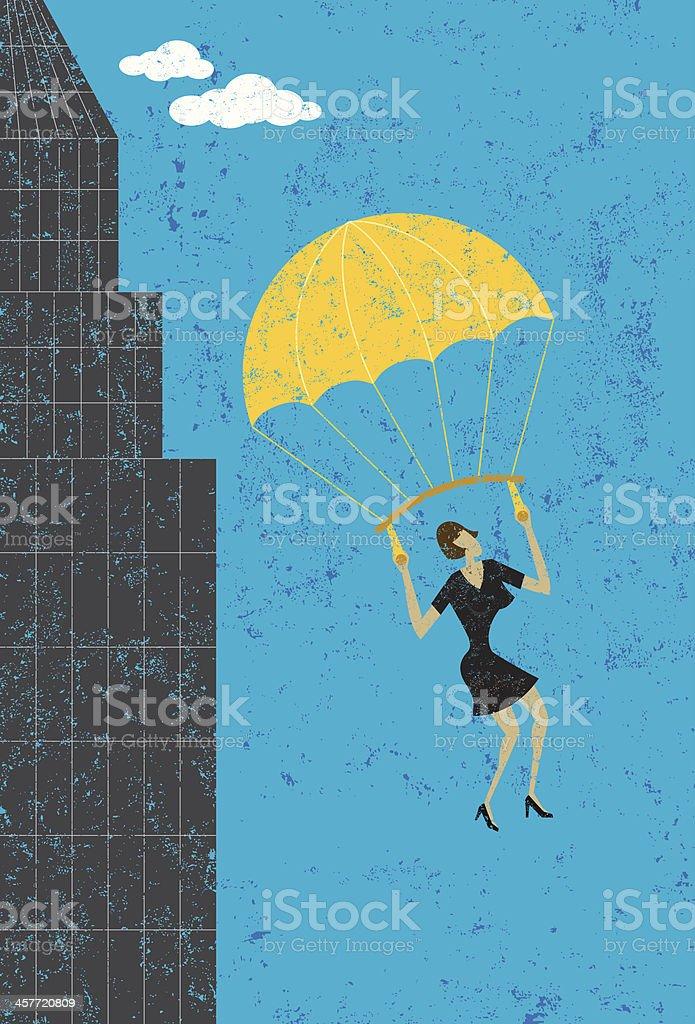 golden parachute royalty-free stock vector art