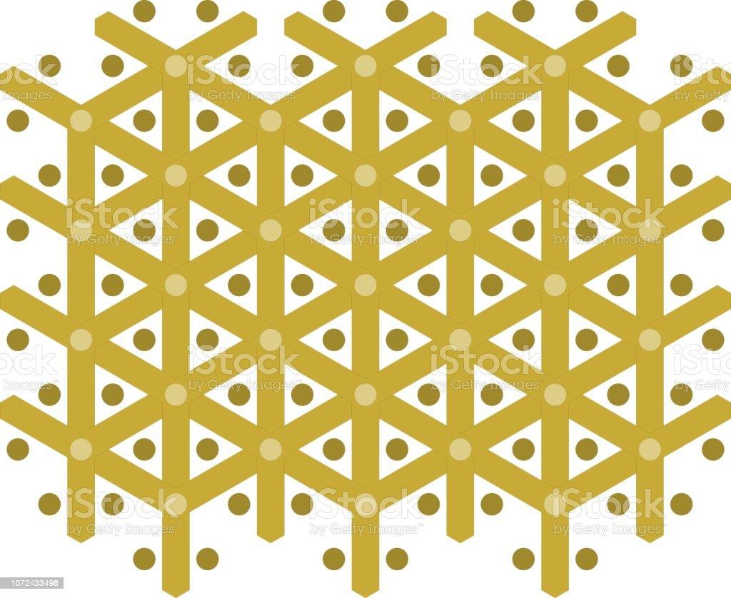 Goldene Muster, x-mas, nahtlose – Vektorgrafik