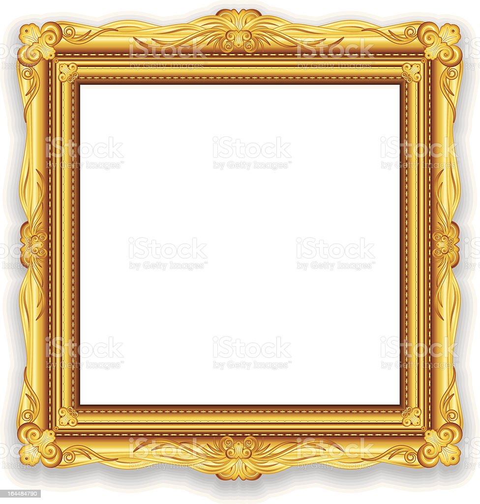 Golden Picture Frame Vector vector art illustration