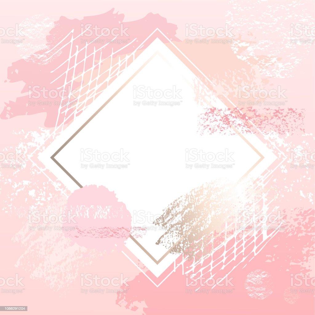 daab209c2613 Golden Pink Art Frames Pastel Rose Colors Brush Strokes Pink Gold ...