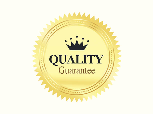 Golden Premium Quality Badge vector art illustration