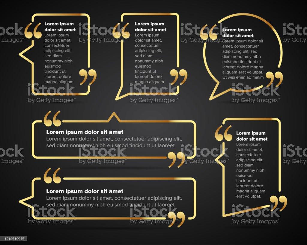 Goldene Leer Angebotsvorlagen Zitat Der Blase Leere Vorlage