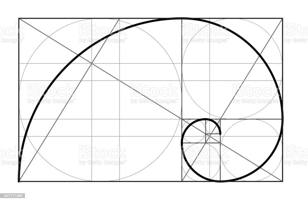 Golden ratio. Cover template. vector art illustration