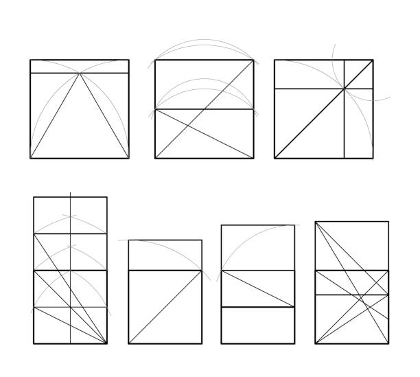 golden ratio. cover template. - golden ratio stock illustrations