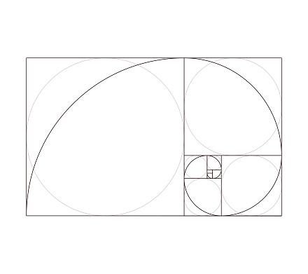 Golden ratio Fibonacci pattern design template