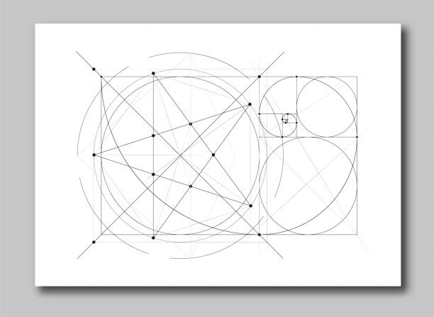 golden ratio section abstract - golden ratio stock illustrations