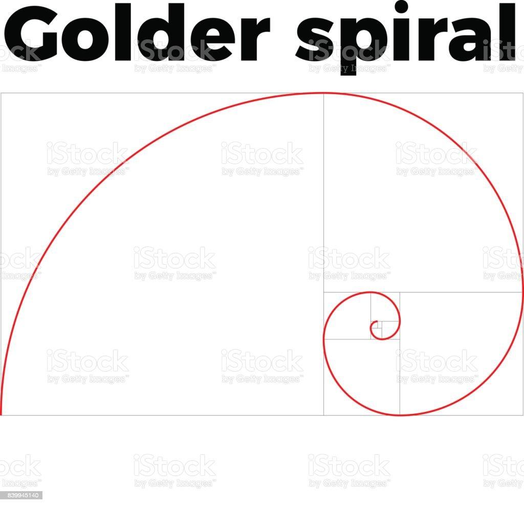golden ratio section vector art illustration