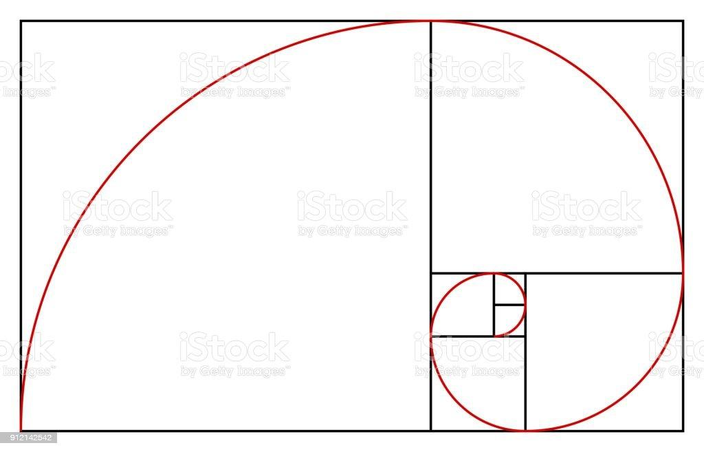 Golden Ratio Template Proportion Symbol Graphic Design Element