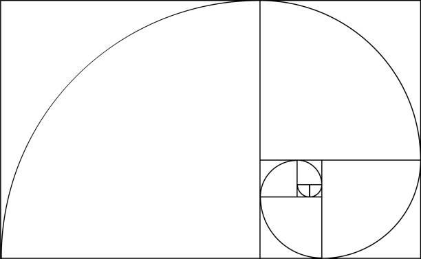 golden ratio template - золотое сечение stock illustrations