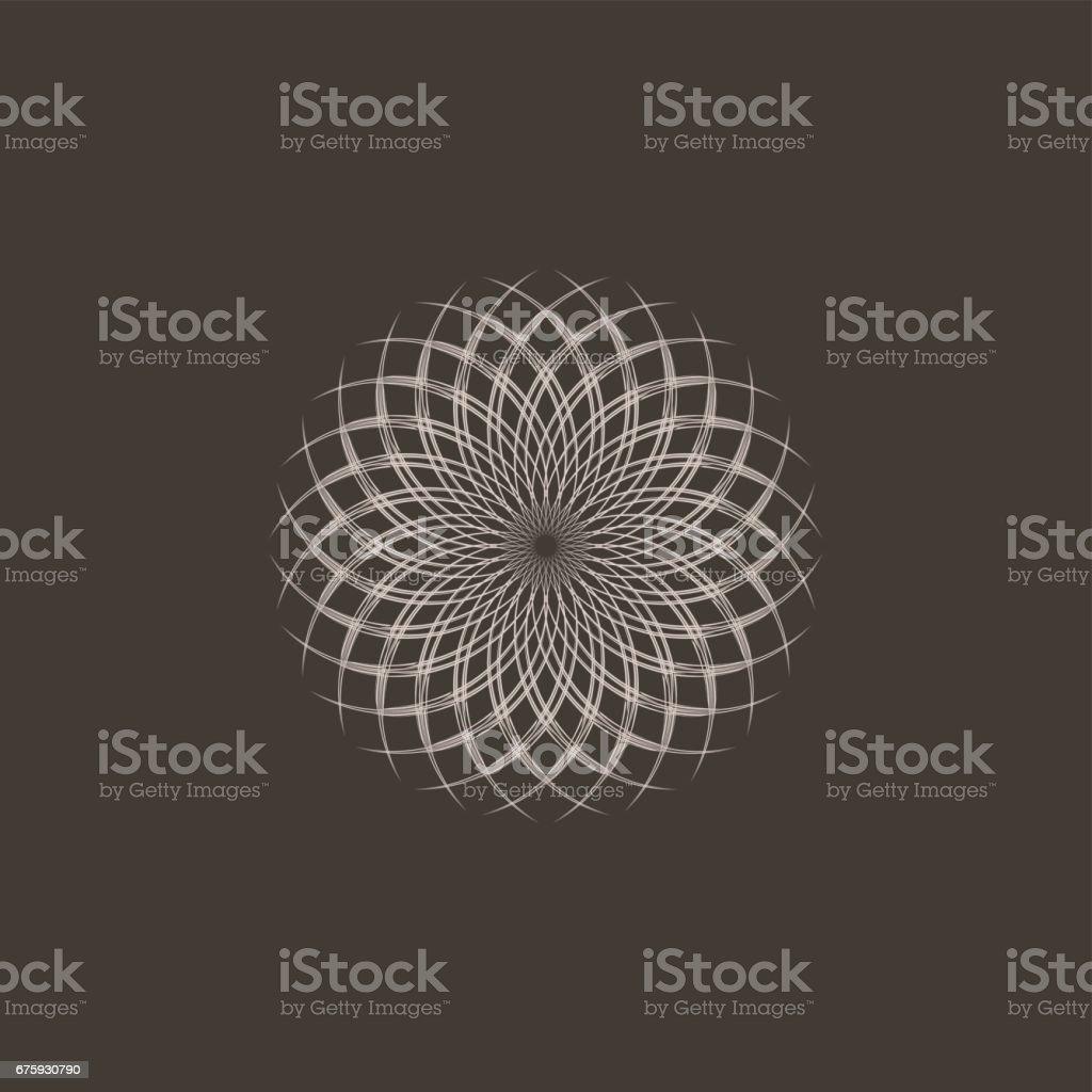Golden ratio vector art illustration