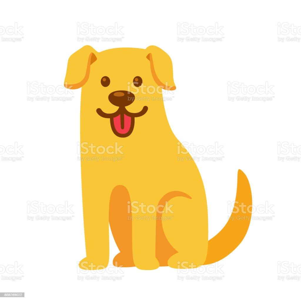 Golden retriever cartoon illustration. vector art illustration