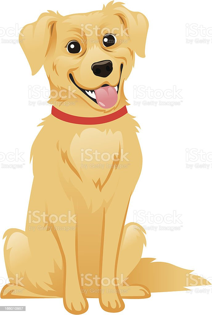 golden retriever dog stock vector art amp more images of