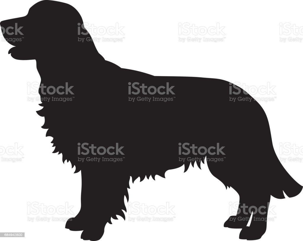Golden Retriever Hund Vector Silhouette Lizenzfreies golden retriever hund vector silhouette stock vektor art und mehr bilder von bildkomposition und technik