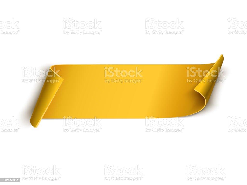 Golden ribbon isolated on white background vector art illustration