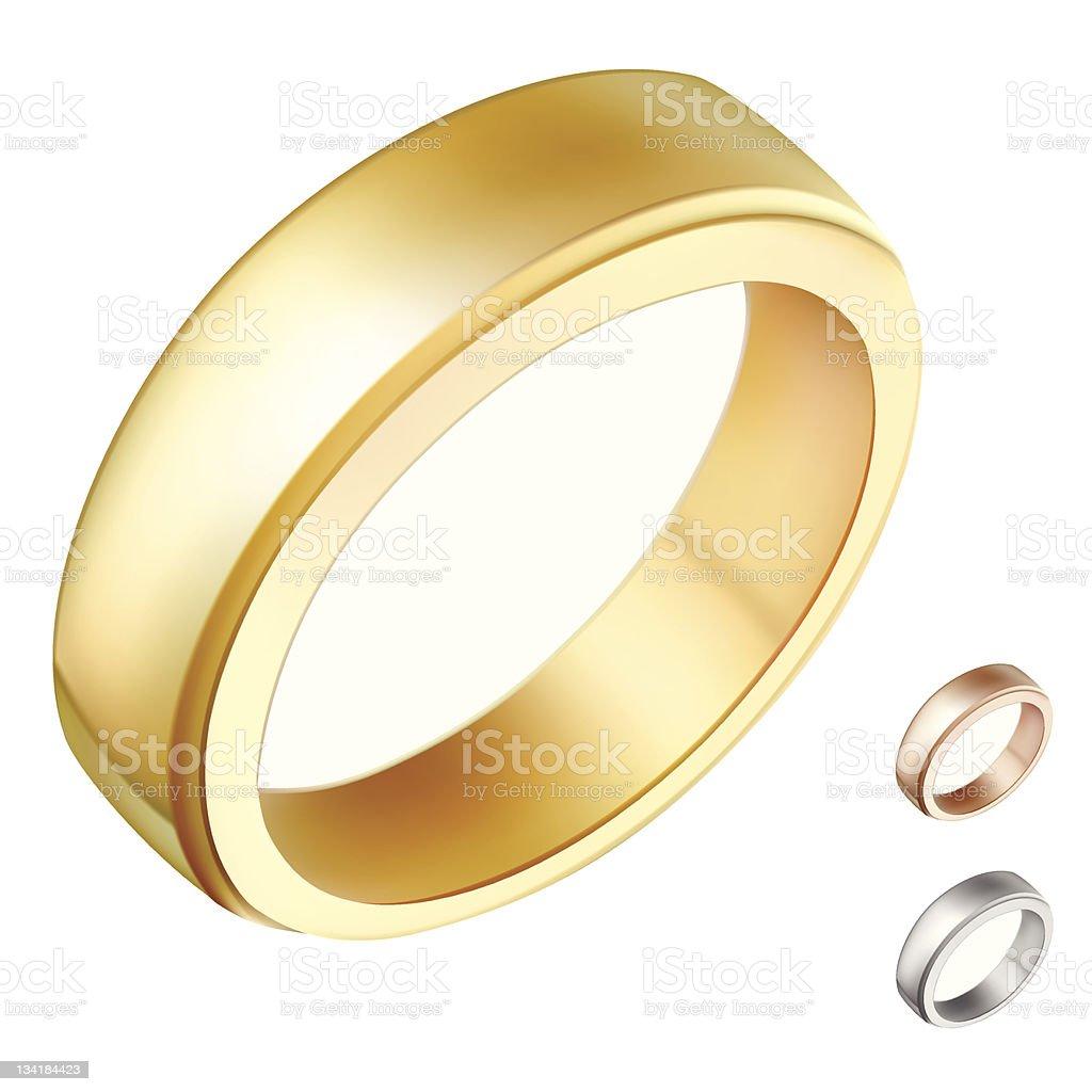 golden ring illustration vector art illustration