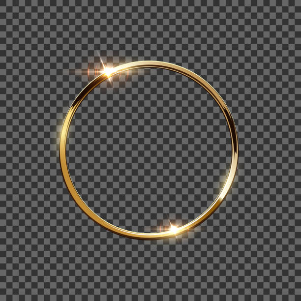 illustrations, cliparts, dessins animés et icônes de anneau d'or isolé sur fond transparent. élément de vecteur de conception. - bague