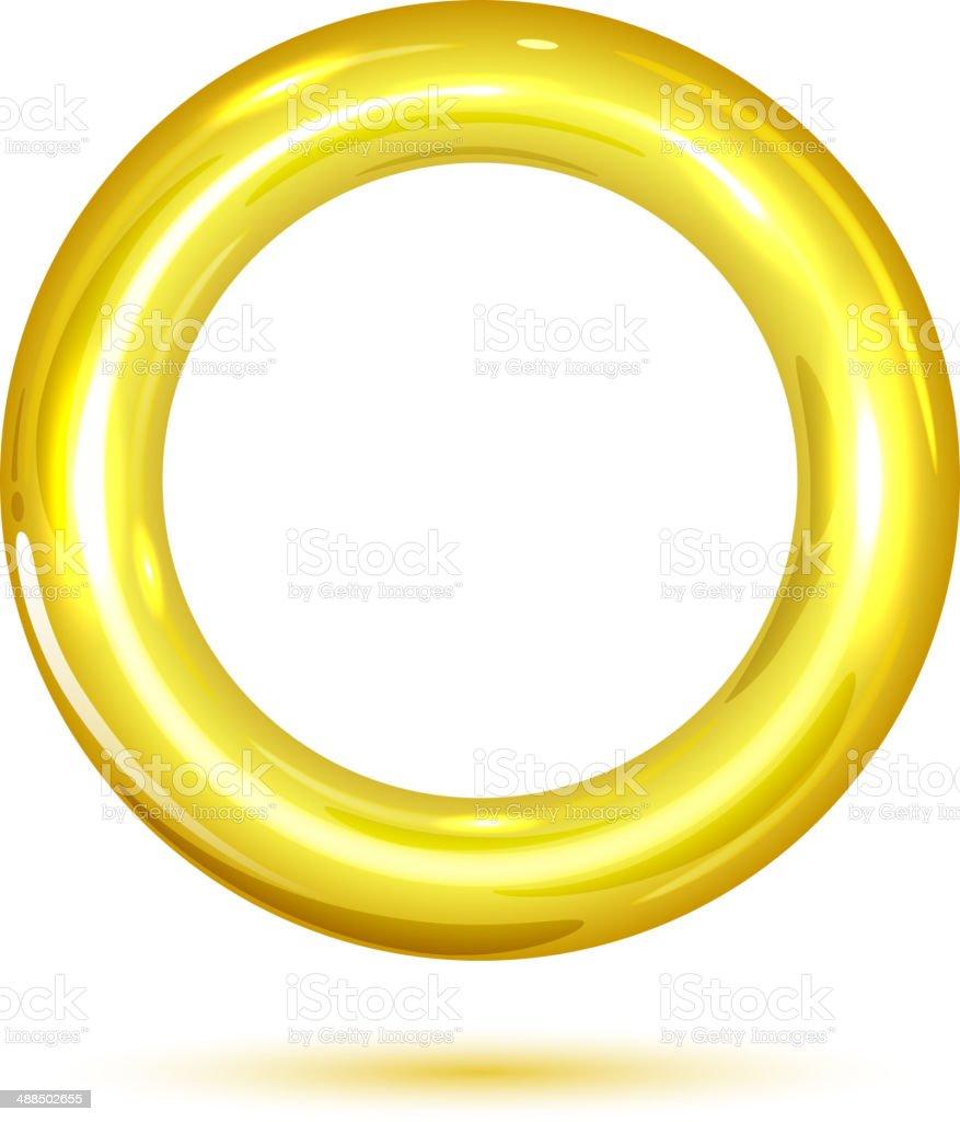 Golden ring vector art illustration