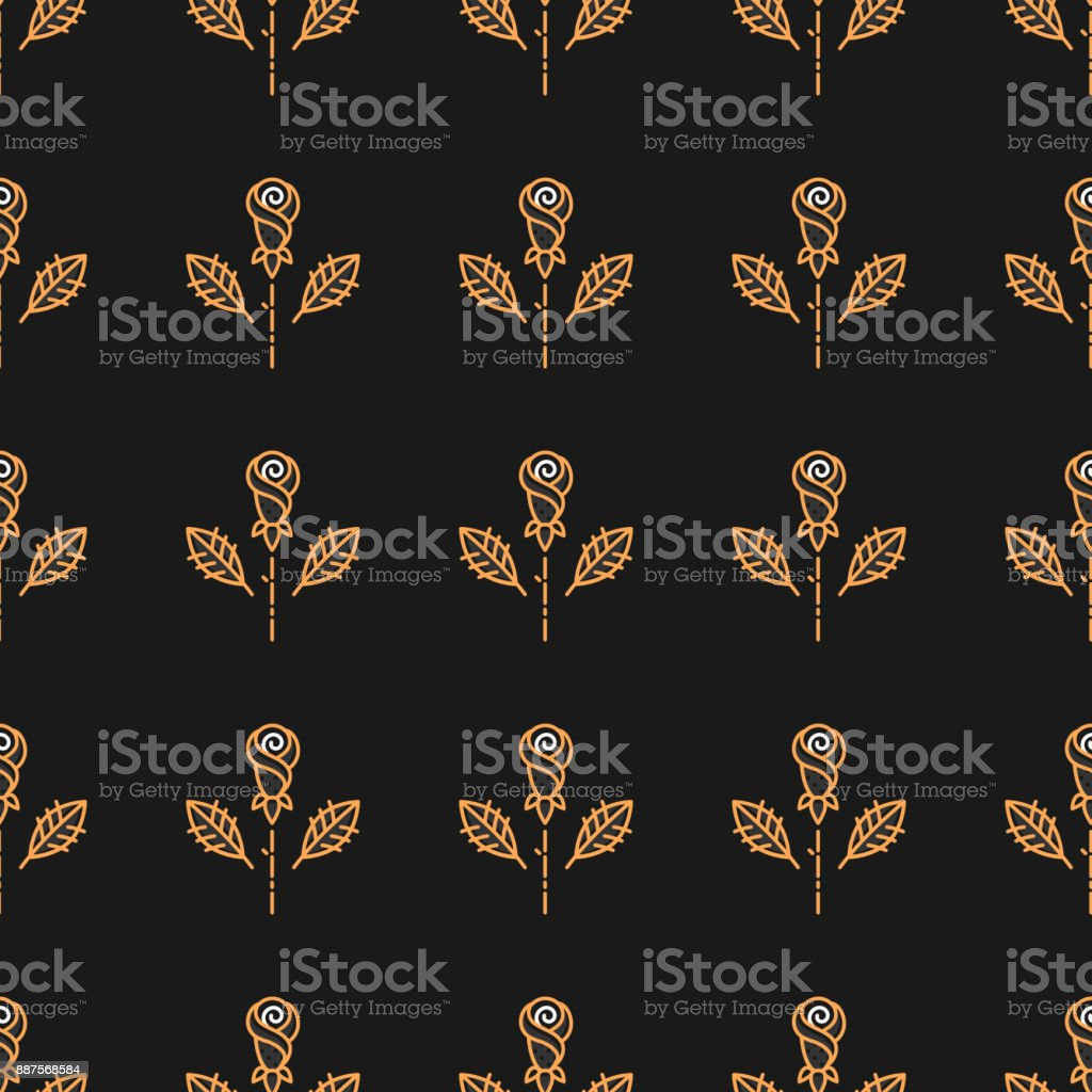 Was Ist Deco golden seamless pattern on a background in the style of