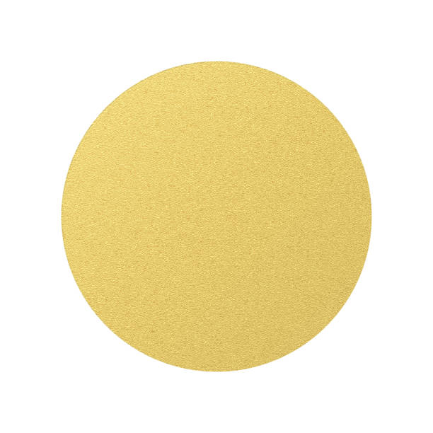 金色の丸いラベル ボリューム構造。透明な背景に孤立したオブジェクト。eps 10 - 金点のイラスト素材/クリップアート素材/マンガ素材/アイコン素材