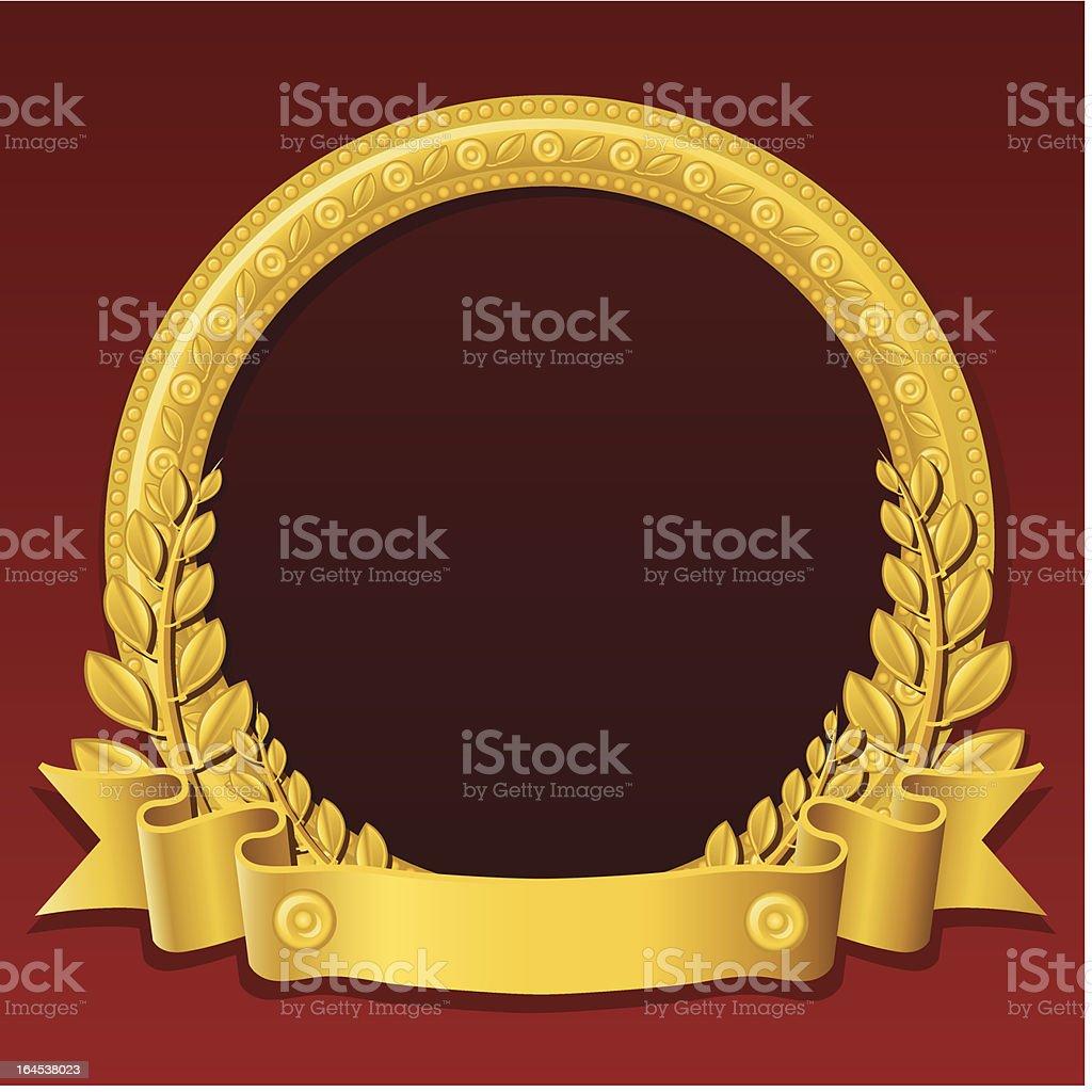 Golden round frame royalty-free stock vector art