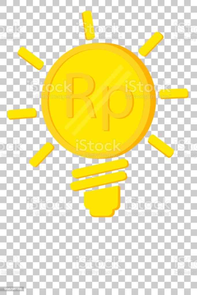 Goldene Rupiahmünze Illustration Für Idee Geld Zu Verdienen Oder