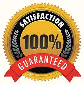 Golden satisfaction badge