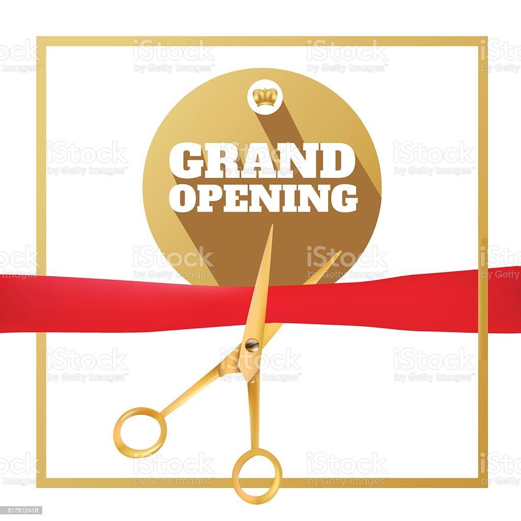 "15/"" plaqué or ruban Officiel Coupe Ciseaux Rouge Grand Opening Kit"