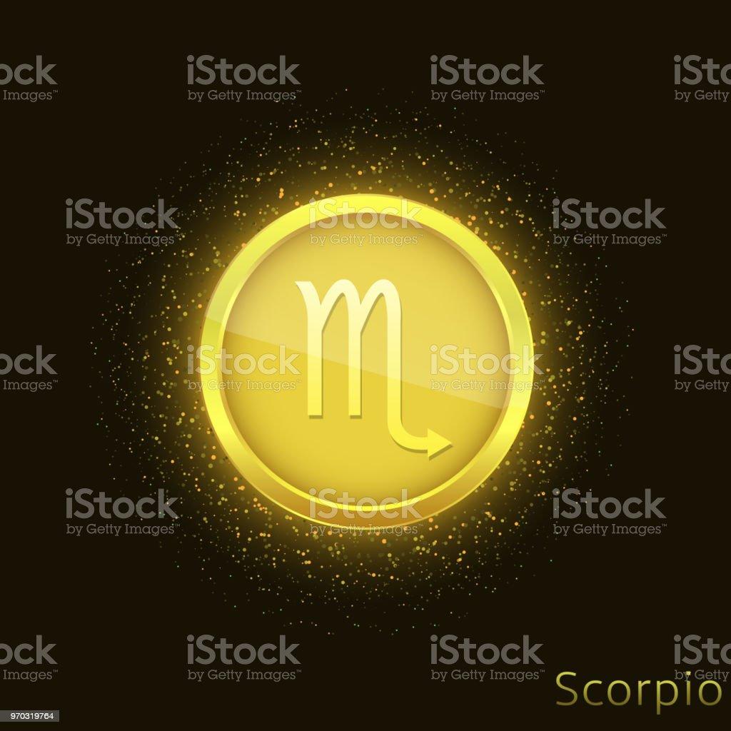 Dibujo De Un Escorpion Dorado ilustración de signo escorpio dorado y más vectores libres