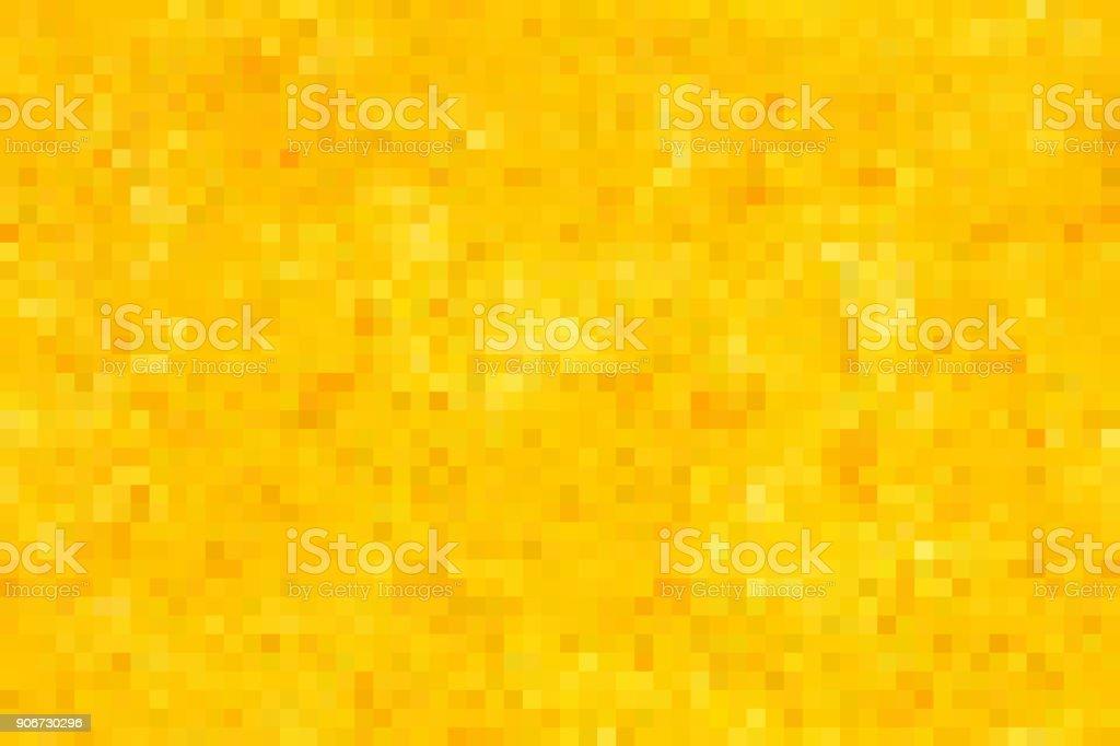 黄金のシームレスなピクセル背景 ベクターアートイラスト