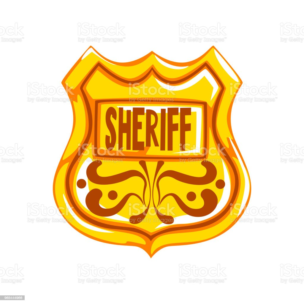 Golden sheriff shield badge vector Illustration on a white background royalty-free golden sheriff shield badge vector illustration on a white background stock vector art & more images of american culture