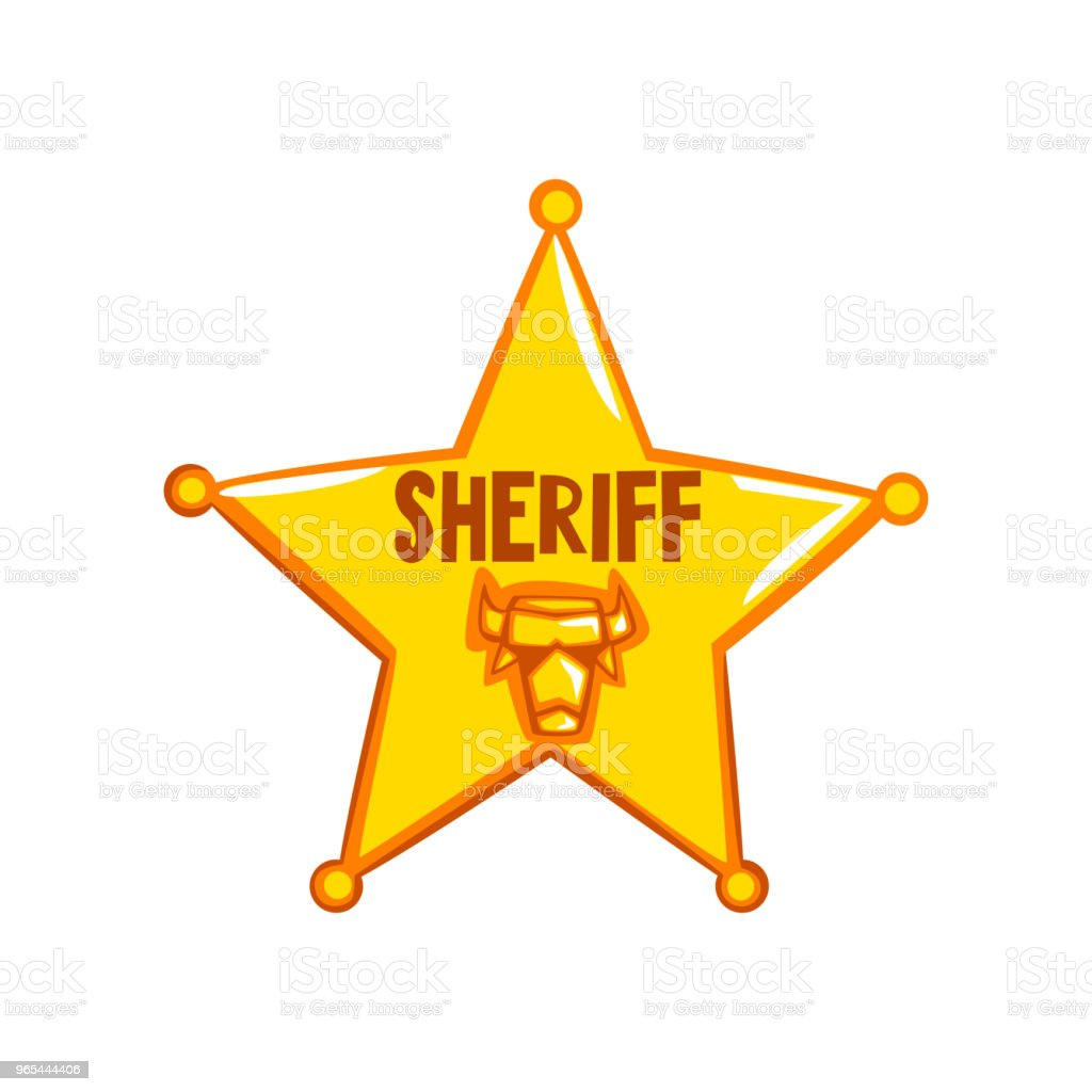 Golden sheriff star badge, American justice emblem vector Illustration on a white background royalty-free golden sheriff star badge american justice emblem vector illustration on a white background stock vector art & more images of american culture