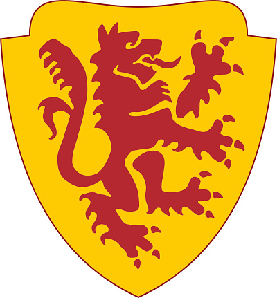 golden shield with red lion