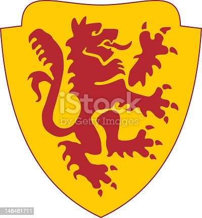 istock golden shield with red lion 148481711