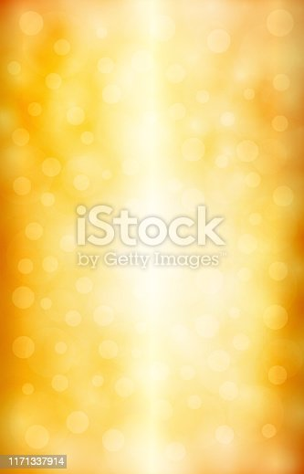 Golden shining star vertical background stock illustration. Looks like twinkling lights light shiny background. Vignette, vignetting, copy space. No people. No text.