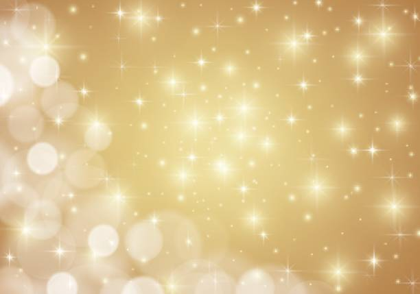 Golden shiny lights star background Vector EPS10 format. blinking stock illustrations