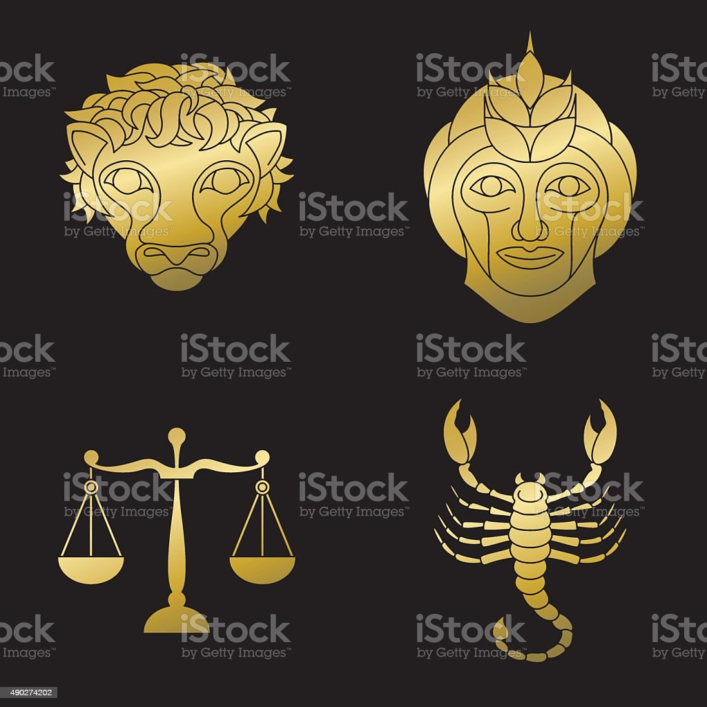Libra animal symbol images symbol and sign ideas golden signs of zodiac stock vector art more images of 2015 golden signs of zodiac leo buycottarizona