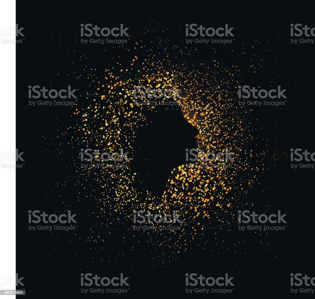 Gouden silhouet royalty free gouden silhouet stockvectorkunst en meer beelden van decoraties