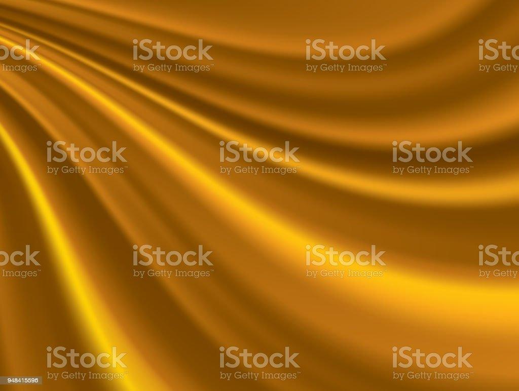 Golden silk Hintergrund – Vektorgrafik