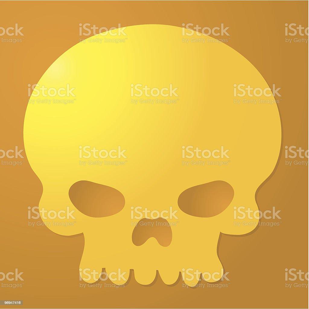 Golden Skull royalty-free golden skull stock vector art & more images of color image