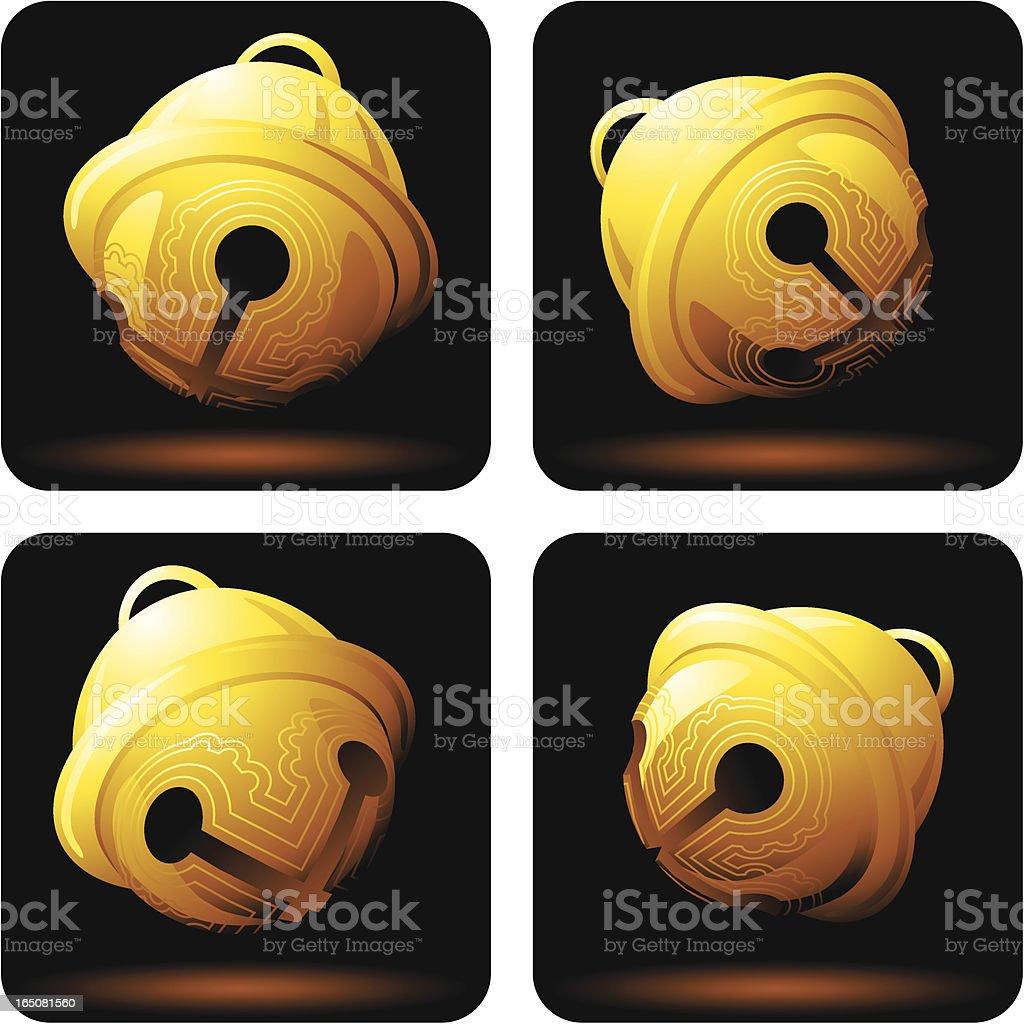 Golden Sleigh Bells royalty-free golden sleigh bells stock vector art & more images of 2008