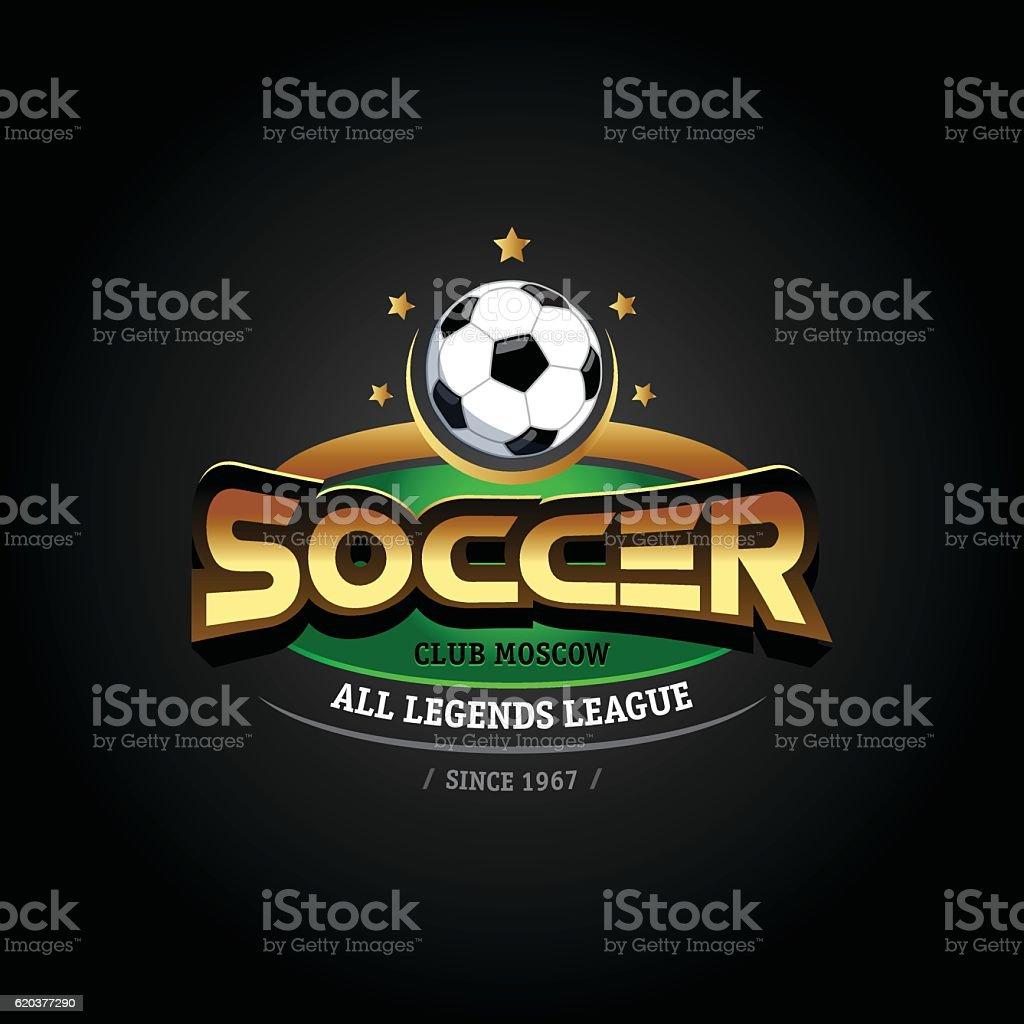 Golden Soccer emblem. Soccer football badge emblem design template. golden soccer emblem soccer football badge emblem design template - stockowe grafiki wektorowe i więcej obrazów bez ludzi royalty-free