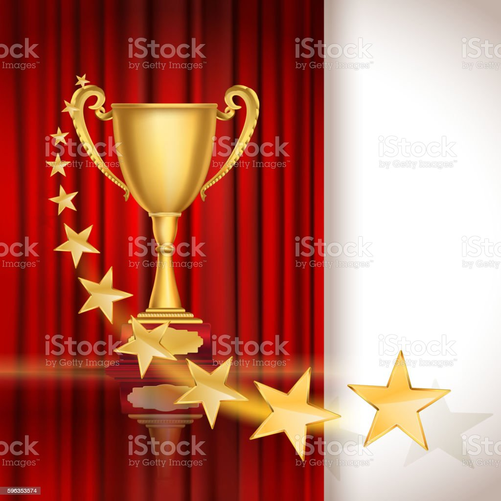 Golden sports cup royalty-free golden sports cup stock vector art & more images of abstract