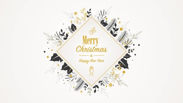 Plaque d'or de Noel de place avec le texte - Illustration vectorielle