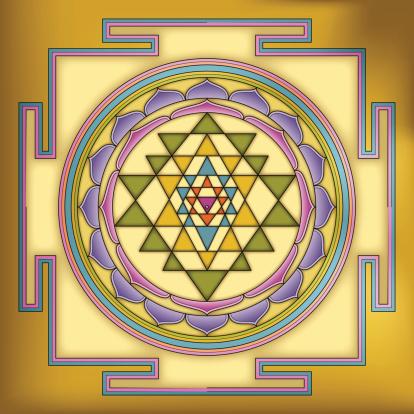 Golden Sri Yantra Mandala