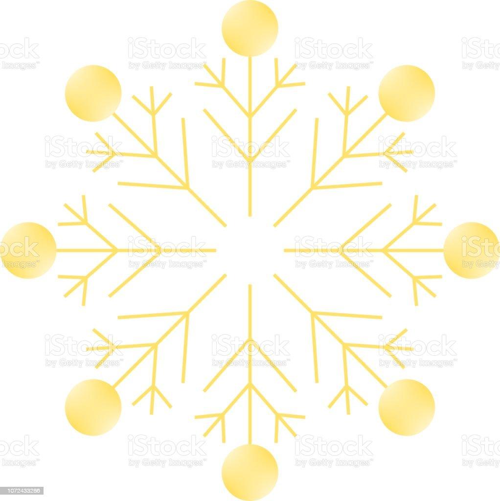 Goldener Stern, Christmas Ornament – Vektorgrafik