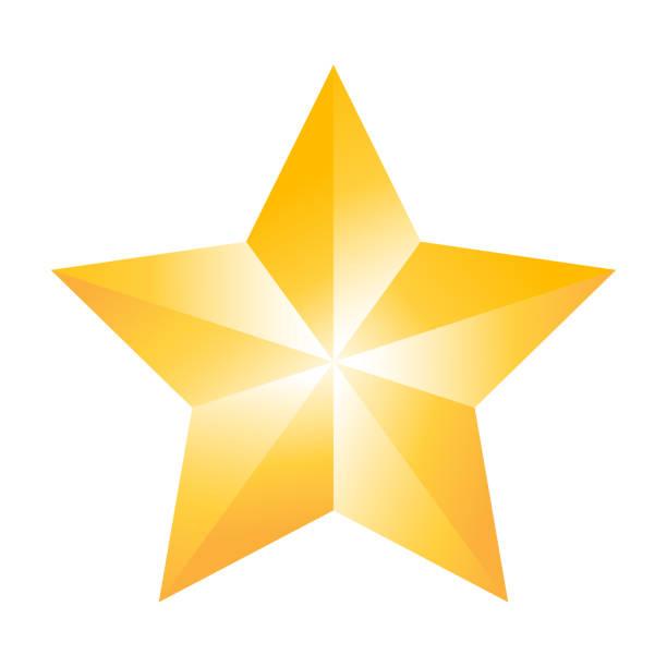 goldener Stern elegante sisolieren auf weißem Hintergrund – Vektorgrafik